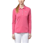 Puma Long Sleeve Golf Polo - Shocking Pink