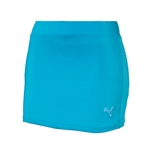 Puma Youth Girls Solid Knit Golf Skort - Hawaiian Ocean