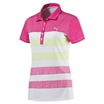 Puma Road Map Texture Golf Polo - Beetroot