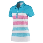 Puma Road Map Texture Golf Polo - Hawaiian Ocean