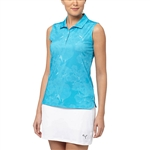Puma Bloom Sleeveless Golf Polo - Hawaiian Ocean