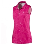 Puma Bloom Sleeveless Golf Polo - Beetroot Purple
