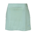 Puma Pinwheel Knit Golf Skort - Sharp Green