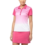 Puma Texture Fade Golf Polo - Beetroot Purple