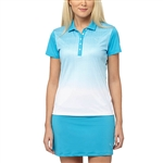 Puma Texture Fade Golf Polo - Hawaiian Ocean