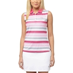 Puma Road Map Sleeveless Golf Polo - Beetroot/Periscope