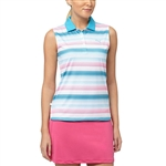 Puma Road Map Sleeveless Golf Polo Hawaiian Ocean/Beetroot