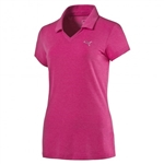 Puma Heather Golf Polo - Beetroot Purple
