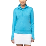 Puma Bloom 1/4 Zip Popover Hawaiian Ocean