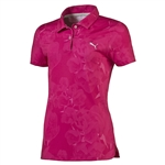 Puma Youth Girls Bloom Short Sleeve Golf Polo - Beetroot Purple