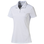 Puma Youth Girls Pounce Short Sleeve Golf Polo - Bright White