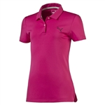 Puma Youth Girls Pounce Short Sleeve Golf Polo - Beetroot Purple
