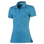 Puma Youth Girls Pounce Short Sleeve Golf Polo - Hawaiian Ocean