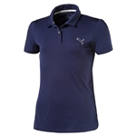 Puma Youth Girls Pounce Short Sleeve Golf Polo - Peacoat Blue