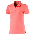 Puma Youth Girls Pounce Short Sleeve Golf Polo - Nrgy Peach
