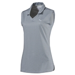 Puma Pinwheel Sleeveless Polo - Glacier Gray/Quarry