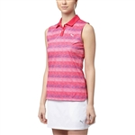Puma Roadmap Sleeveless Golf Polo - Bright Rose