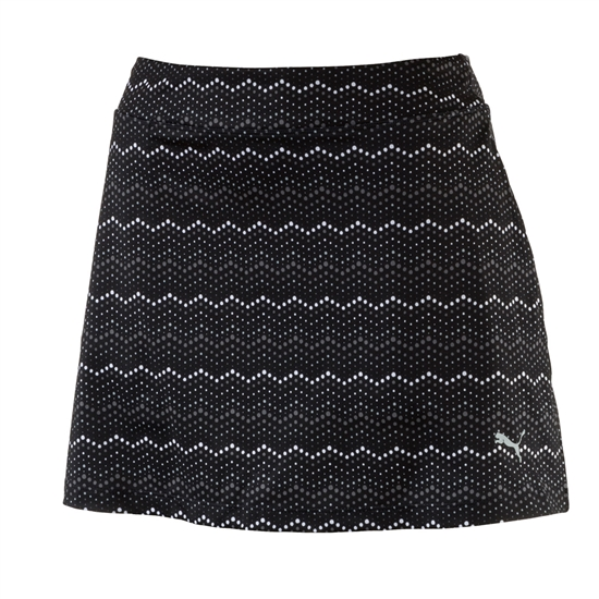 Puma Zig Zag Knit Golf Skort - Black