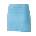Puma Youth Girls Solid Knit Golf Skort - Blue Atoll