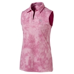 Puma Johnny Shocking Pink Sleeveless Golf Polo