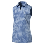 Puma Johnny True Blue Sleeveless Golf Polo