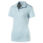 Puma Space Dye Golf Polo - Blue Atoll