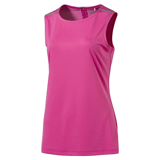 Puma Sleeveless Zip Crewneck Top - Shocking Pink
