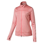 Puma Colorblock Full Zip Golf Jacket - Ngry Peach
