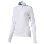 Puma 1/4 Zip Golf Popover - Bright White