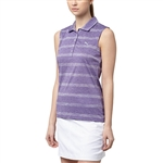 Puma Pounce Stripe Sleeveless Golf Polo - Royal Purple
