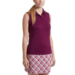 Puma Jacquard Sleeveless Golf Polo - Dark Purple