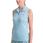 Puma Jacquard Sleeveless Golf Polo - Serenity