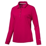 Puma Long Sleeve Golf Polo - Love Potion