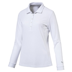 Puma Long Sleeve Golf Polo - Bright White