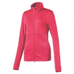 Puma Heather Full Zip Popover - Bright Plasma