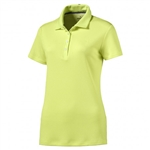 Puma Jacquard Golf Polo - Sunny Lime