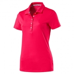 Puma Pounce Short Sleeve Golf Polo - Bright Plasma