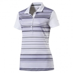 Puma Road Map Stripe Golf Polo - Bright White/Peacoat