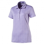 Puma Micro Floral Golf Polo - Purple Rose