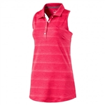 Puma Racerback Sleeveless Golf Polo - Bright Plasma