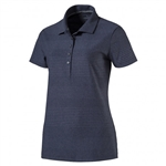 Puma Pounce Aston Short Sleeve Golf Polo - Peacoat
