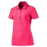 Puma Pounce Aston Short Sleeve Golf Polo - Bright Plasma