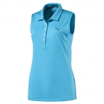 Puma Pounce Sleeveless Golf Polo - Aquarius