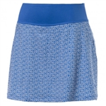 Puma PWRSHAPE Polka Dot Knit Golf Skort - Nebulas Blue