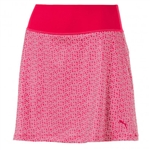 Puma PWRSHAPE Polka Dot Knit Golf Skort - Bright Plasma