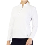 GG Blue Ellen Long Sleeve Mock - White
