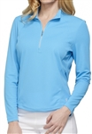 GG Blue Ellen Long Sleeve Basin Blue Mock