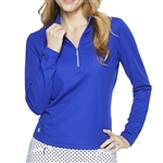 GG Blue Ellen Long Sleeve Mock - Clematis