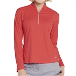 GG Blue Ella Long Sleeve Golf Polo - Ruby