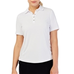 GG Blue Tina Short Sleeve Golf Polo - White
